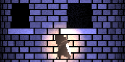 "Screenshot of the ""Leap of Faith"" demo showing a wizard in front of a tower."